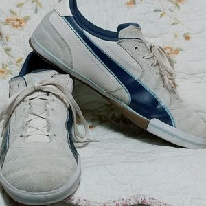 Puma Beige Suede Leather Athletic Shoes